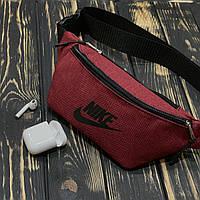 d4652f2bb4e5 Поясная сумка, бананка, сумка на пояс Nike, цвет красный, материал Kiten