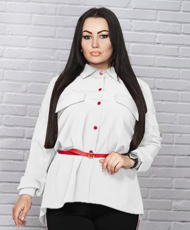 ef7cc70e45ccc34 Асимметричная женская рубашка
