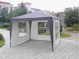 Павильон шатер садовый Tarrington House 3х3 м с тремя стенками Everyday синий 1313