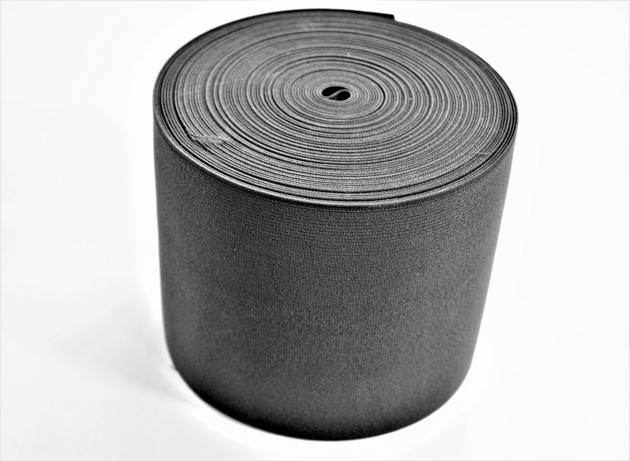 Резинки на голенище эластичные 7-8 см. цвет черн. (Италия)