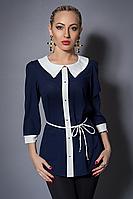 Кофточка женская модель №365-8, размеры 46-48  темно-синяя,молочная