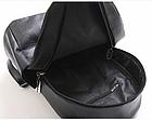 Рюкзак женский PU чёрный кожзам с брелком, фото 7