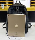 Рюкзак женский PU чёрный кожзам с брелком, фото 5