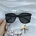Стильные солнцезащитные очки черные, фото 7