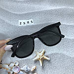 Стильные солнцезащитные очки черные, фото 8
