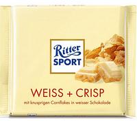 Шоколад Ritter Sport Риттер Спорт Weiss + Crisp Хрустящее печенье, 100 г. Германия