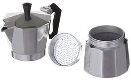 Кухонная гейзерная кофеварка Domotec DT-2906 на 6 чашек прибор для приготовления кофе