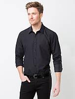 Рубашка для официанта мужская черная с длинным рукавом Atteks - 02307