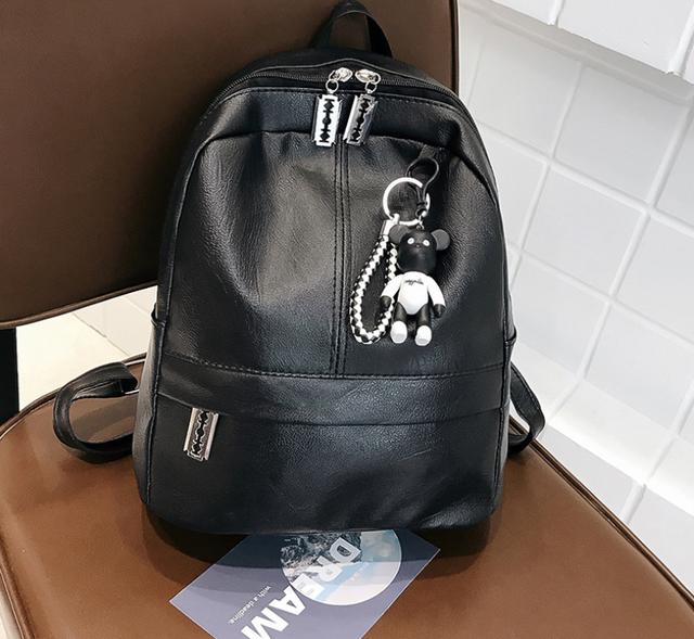 Рюкзак женский чёрный экокожа