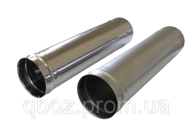 Труба из нержавеющей стали без утеплителя 1 м., фото 2