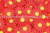 Вафельные цветы Modecor - Ромашки красные 200 шт