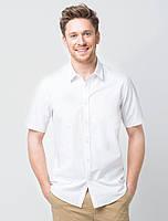 Рубашка для официанта мужская белая с коротким рукавом Atteks - 02308