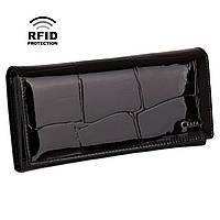 Кошелек женский кожаный на магнитах Kafa с RFID защитой (BE501 black)