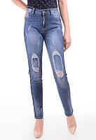 Женские джинсы с порезами на коленях, фото 1