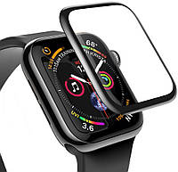 Защитное стекло Baseus Full-screen для Apple Watch (42mm), Black  (SGAPWA4-D01)