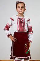 Рубашка-вышиванка для девочки 0143, фото 1