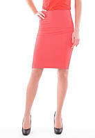 Женская юбка-карандаш в коралловом цвете, фото 1