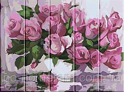 Картина по номерам по дереву Розы (ASW001) 30 х 40 см ArtStory