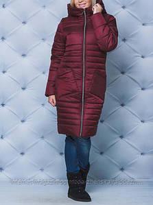 Женское пальто зимнее с капюшоном