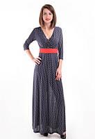 Женское платье с поясом, фото 1