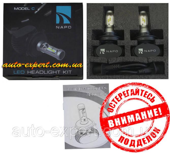 Автомобильные светодиодные лампы «Napo» LED G7 (H13)(6000K)(4000lm)(25W)(12-24V)