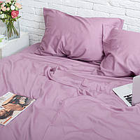 Хлопковое постельное белье, двухспальный комплект 175x215 Фиолетовый