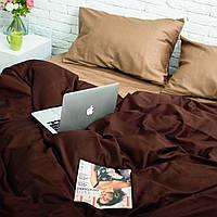 Постельное белье из хлопка, двухспальный комплект 175x215, Золотисто-Коричневый
