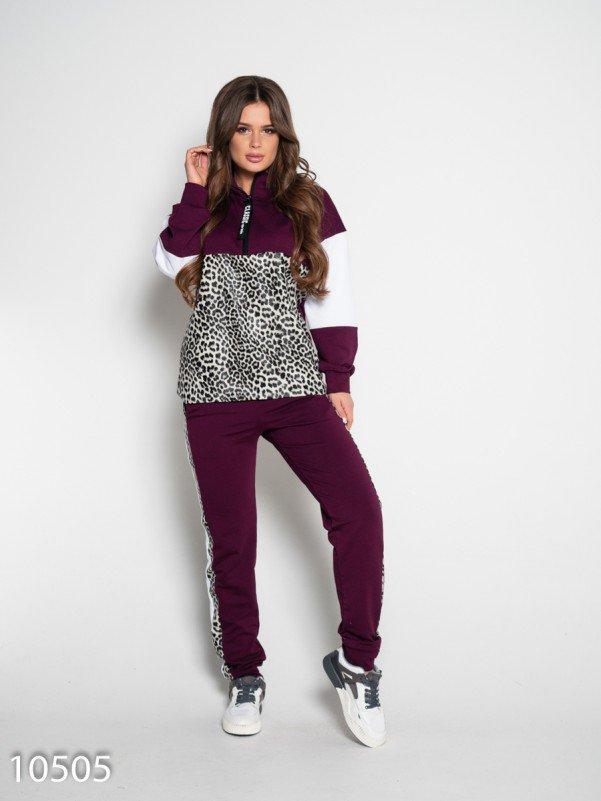 Фиолетовый спортивный костюм с вставками