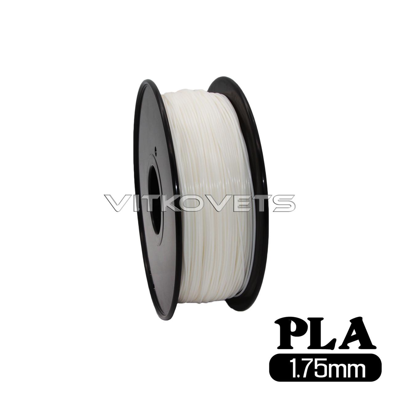 Пластиковая нить PLA, 1.75 мм, 1 кг (белый)