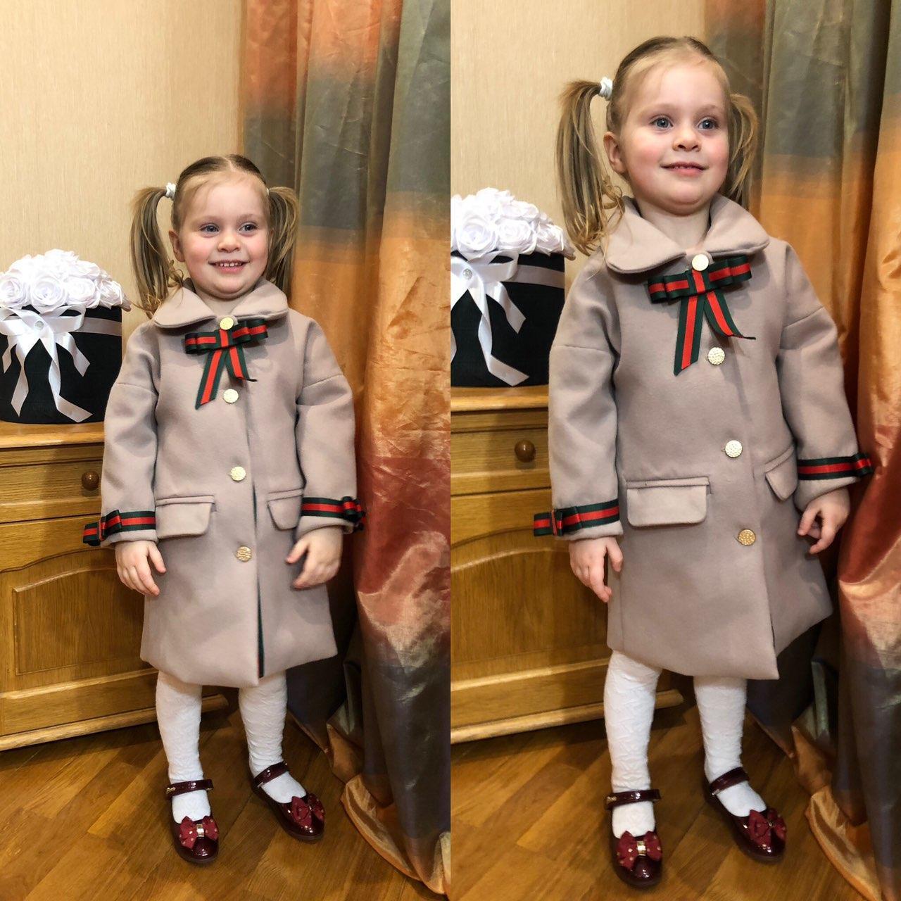 Детское пальто, пальто на девочку,весеннее пальто family look, цвет мокко