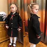 Детское пальто, пальто на девочку,весеннее пальто family look в черном цвете , фото 2