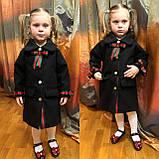 Детское пальто, пальто на девочку,весеннее пальто family look в черном цвете , фото 3