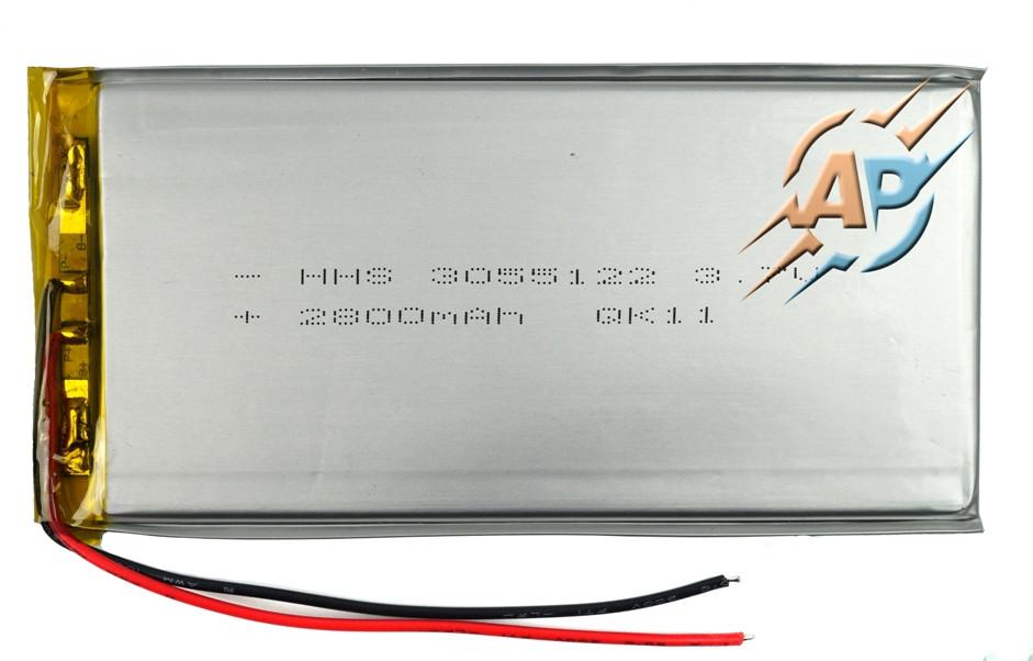 Аккумулятор 2800mAh 3.7v 3055122 для планшетов и электронных книг.