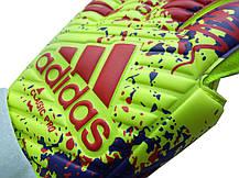 Вратарские перчатки Adidas pro 070 сине-салатовые, фото 3