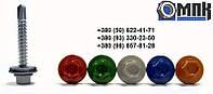Винт самосверлящий (TEX) 5,5х25 RAL 6002 + шайба EPDM, окрашенный RAL (для металла)