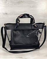 Прозрачная женская сумка корзина силиконовая через плечо 56204, фото 1