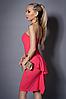 Платье женское с балеро,мод 473-3 размеры  44 коралл