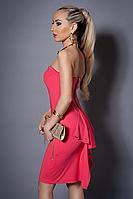 Платье женское с балеро,мод 473-3 размеры  44 коралл, фото 1