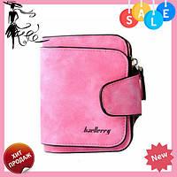 Женский замшевый кошелек Baellerry Forever N 2346   клатч   портмоне розовый, фото 1
