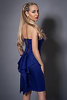 Платье женское с балеро,мод 473-5 размеры  42-44 электрик