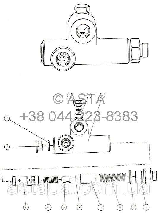 Смещения регулировочного клапана TB30000010