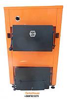 Твердотопливный котел ДТМ Эко 16М мощностью 16 кВт с механическим регулятором тяги