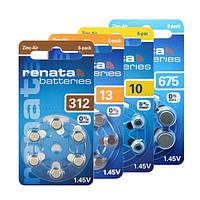 Батарейки для слуховых аппаратов Renata, Германия