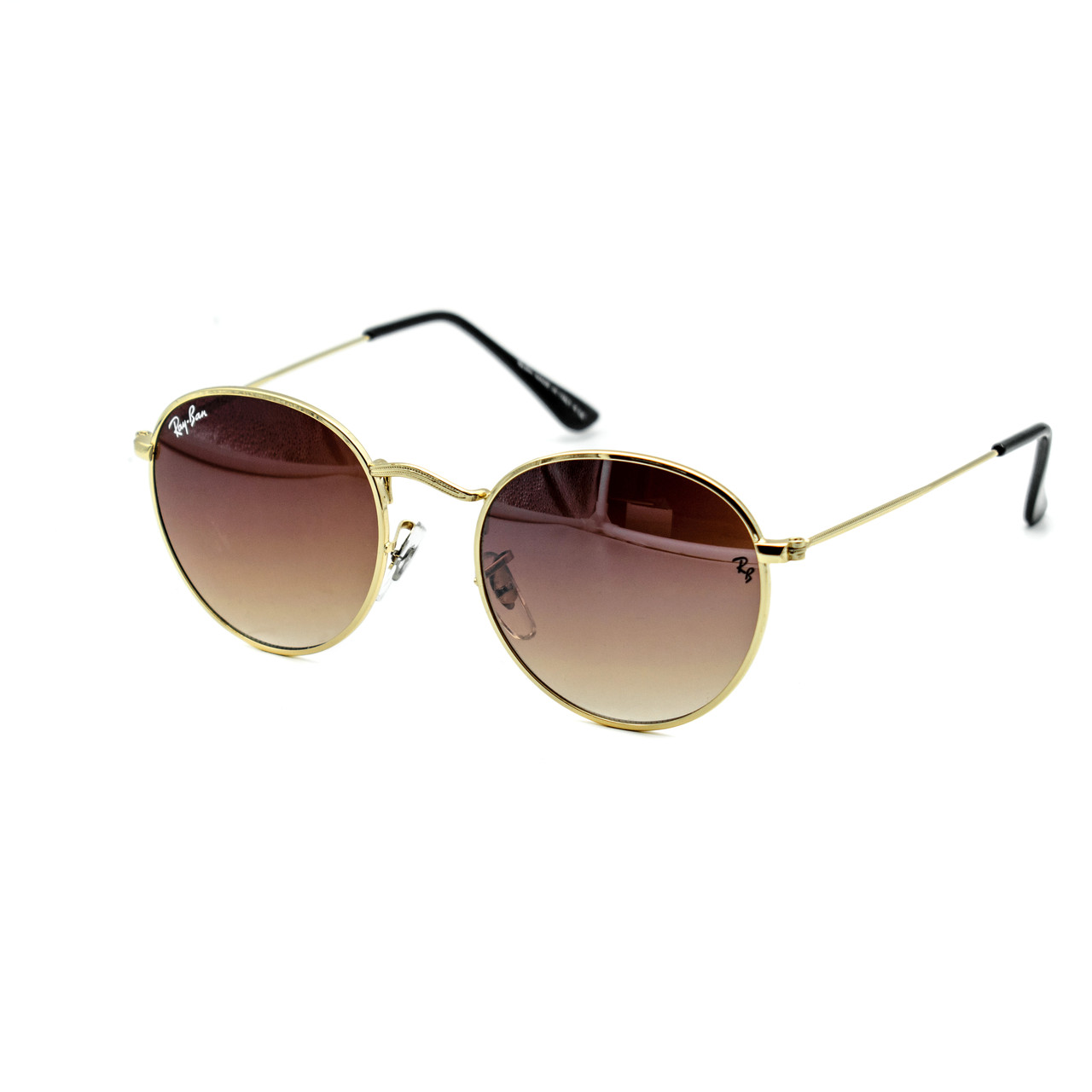 Очки Ray Ban Roud brown (replica)