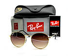 Очки Ray Ban Roud brown (replica), фото 5