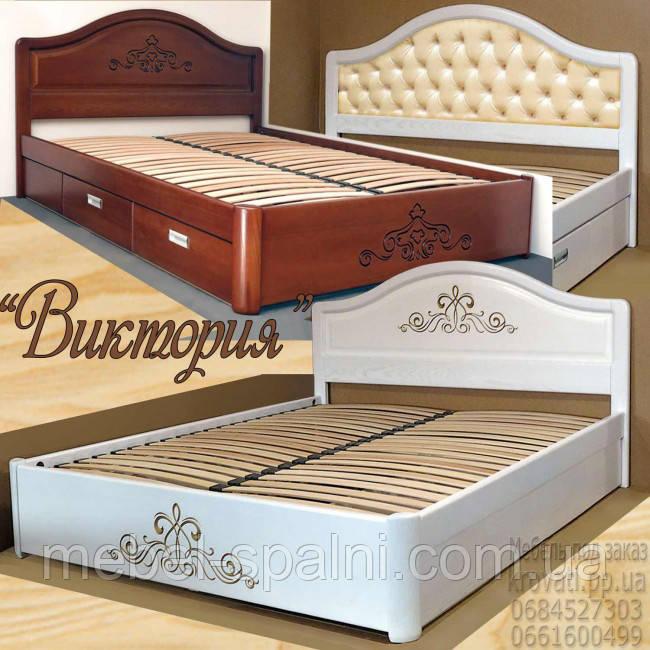 Кровать двуспальная деревянная в классическом стиле - каталог
