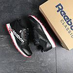 Мужские кроссовки Reebok (черно-белые с красным) , фото 4