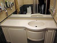 Столешница для ванной комнаты из искусственного камня