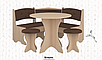 Кухонный уголок Боярин с круглым столом и табуретами Пехотин, фото 5