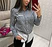 Комбинированная стильная женская рубашка в клетку, размеры: 42, 44, 46, 48, 50, цвета разные, фото 3